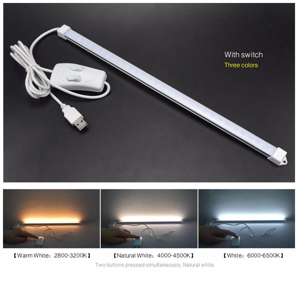 Dc 5v Usb Led Rigid Bar Light 35 Cm Portable Hard Tube Led