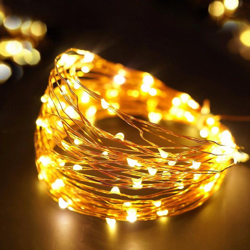 dc 5v usb powered led holiday light 5m 10m copper wire led string light outdoor fairy led strip christmas wedding party decor