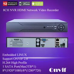 CCTV Mini HD NVR 4CH Video Recorder Onvif 8 Channel H 264 Network