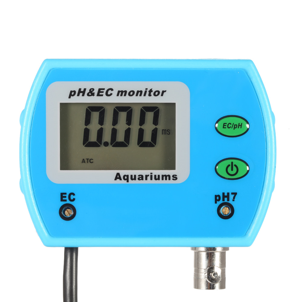 pH Meter for Aquarium 2 in 1Water Quality Tester medidor de ph Tester Water Quality Monitor Online pH EC Meter Acidometer