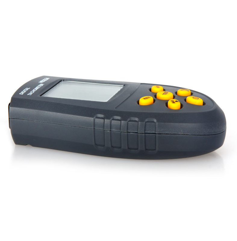 Digital Laser Tachometer LCD RPM Tester Small Engine Motor Wind Speed Gauge Non contact