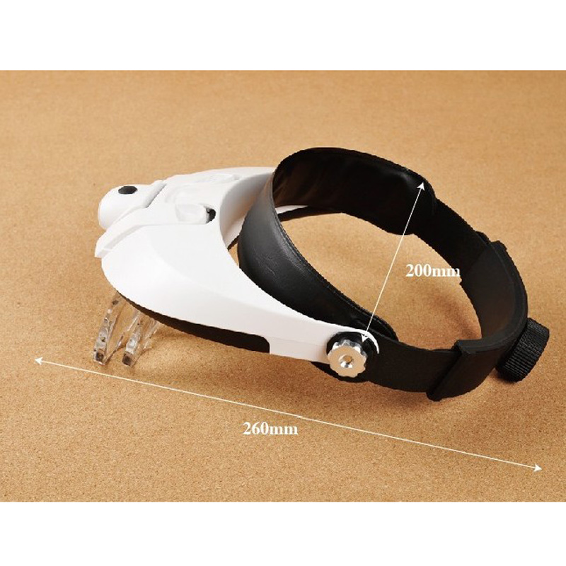 11x 2LED Head Mounted Illuminating Magnifier Adjustable microscope lupa Magnifying Glass with Light Head Wearing Loupe