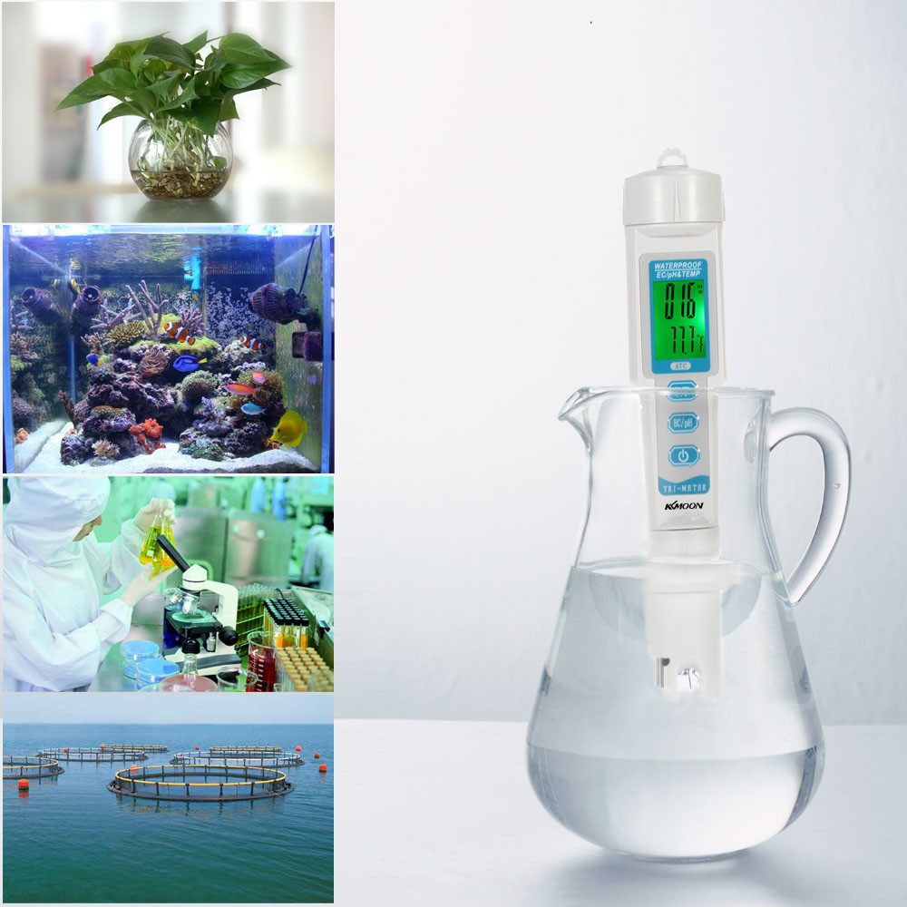 3 in 1 Water Quality Tester ph meter for aquarium Water Monitor Pen Type EC TEMP Meter Acidometer Drink Water Quality Analyser