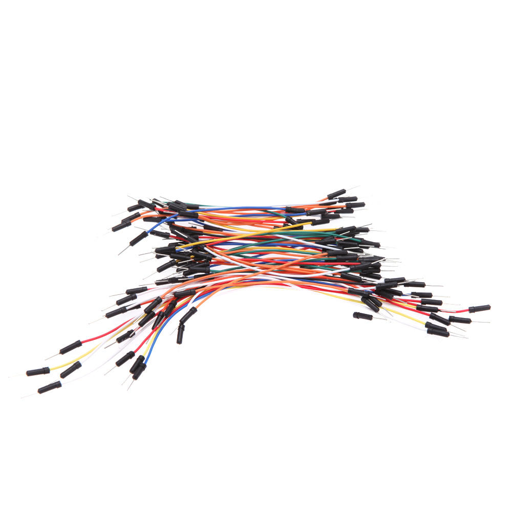 65pcs Jumper Wire Cables PCB Breadboard Wires Plug Bread Board Solderless Cable Tie Line Professional Jumper Line