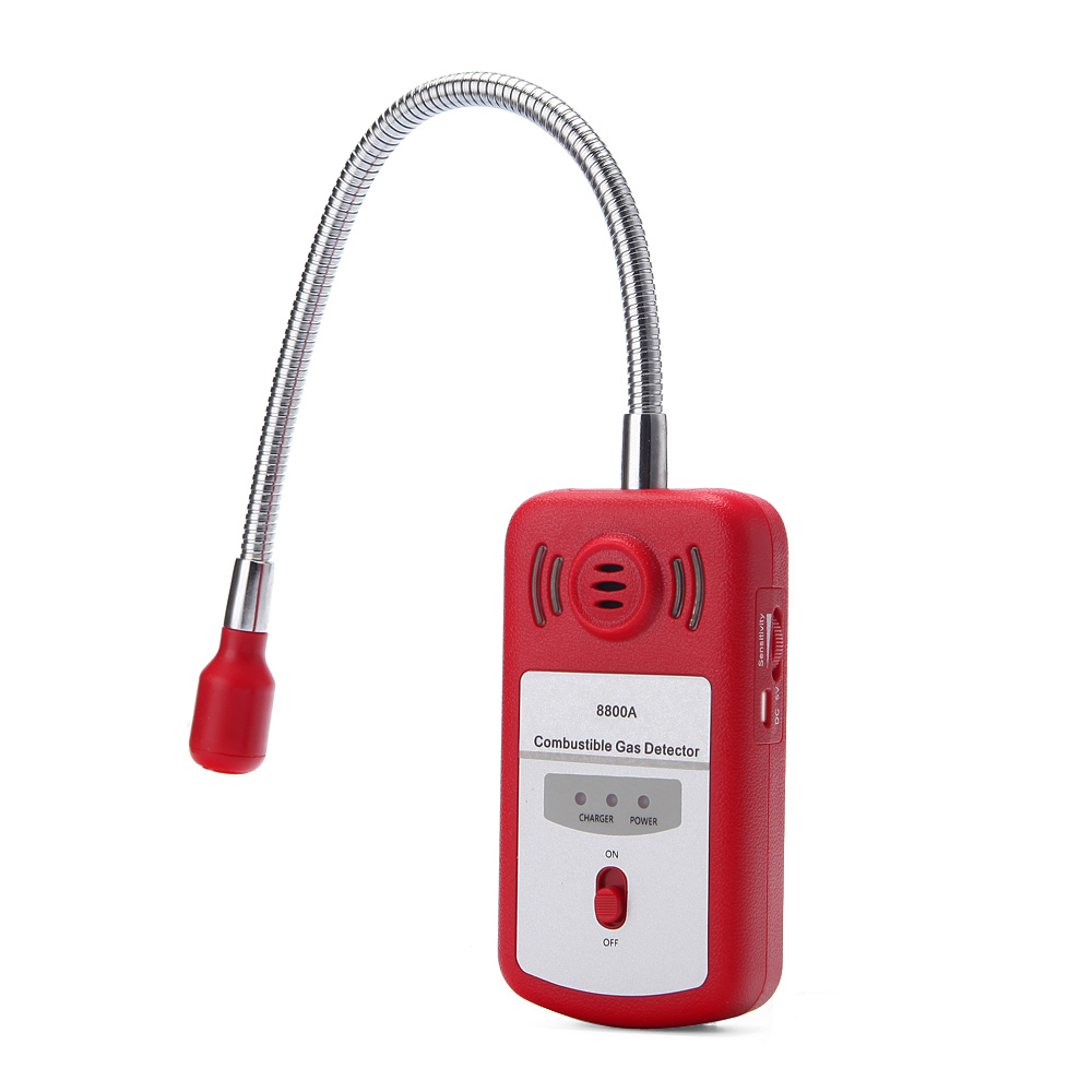 Sensitive Useful Gas Analyzer Combustible Gas Detector Portable Gas Leak Location Determine Tester with Sound light Alarm