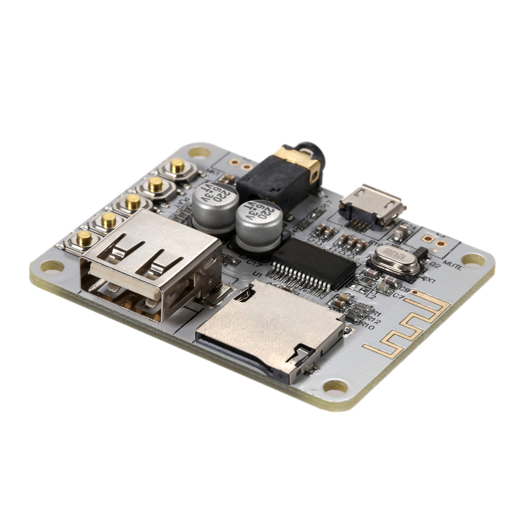 USB DC 5V Bluetooth 2.1 Audio Receiver Board Wireless Stereo Music Module with TF Card Slot