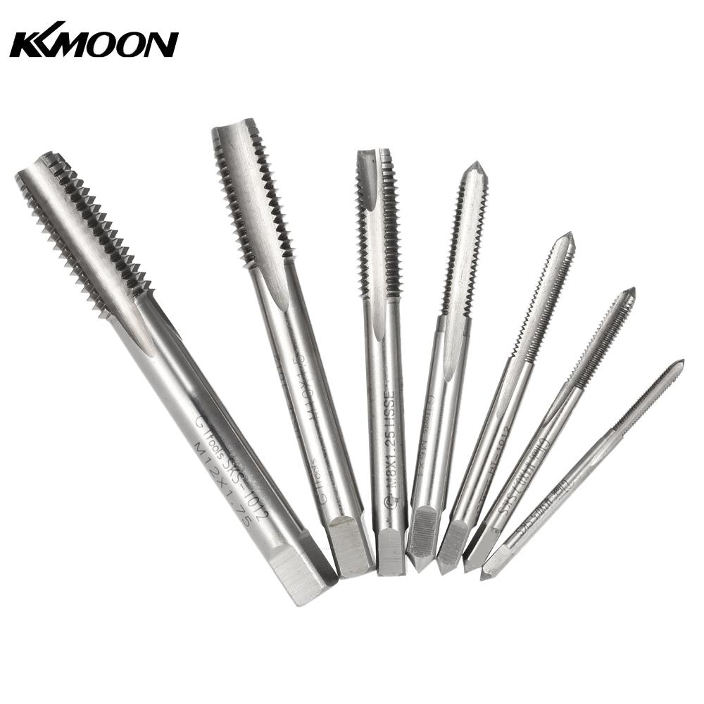 7pcs Drill Hardness Ground HSS High Speed Steel Drill Tap Drill Bits Set for Machine Hand Use M3 M4 M5 M6 M8 M10 M12
