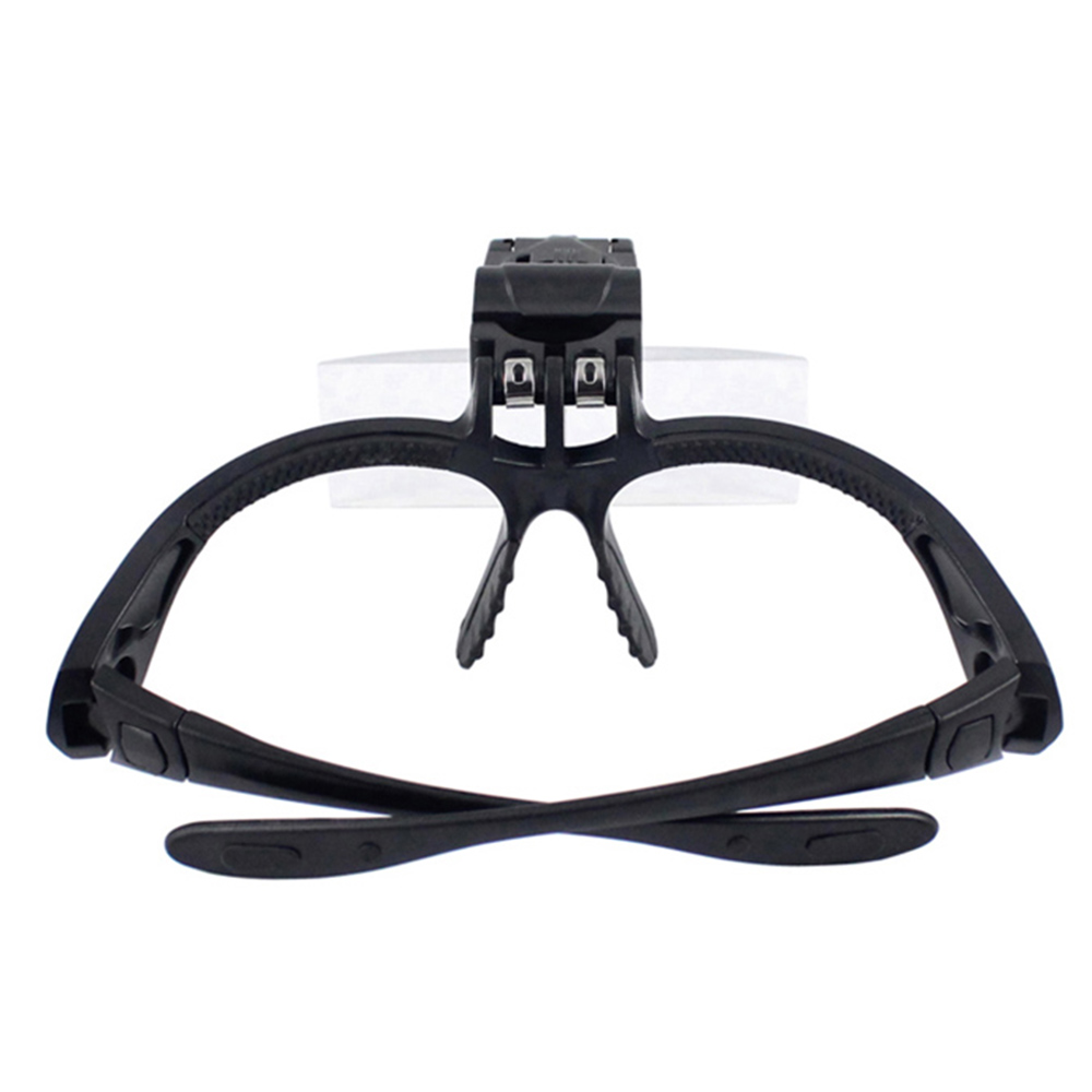 5 Lens 1.0X 3.5X Bracket Headband Magnifier Loupe Magnifying Glasses with 2 LED Lights Lamp Eye Magnification Goggles Tool lupa
