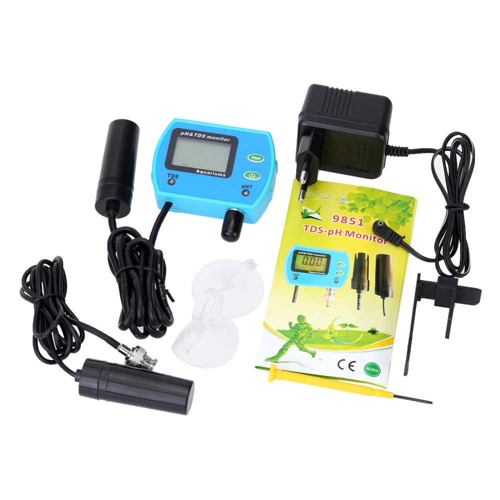 2 in 1 Water Quality Tester Multi parameter Water Quality Monitor Aquarium pH TDS Meter Multiparameter Water Quality Analyzer
