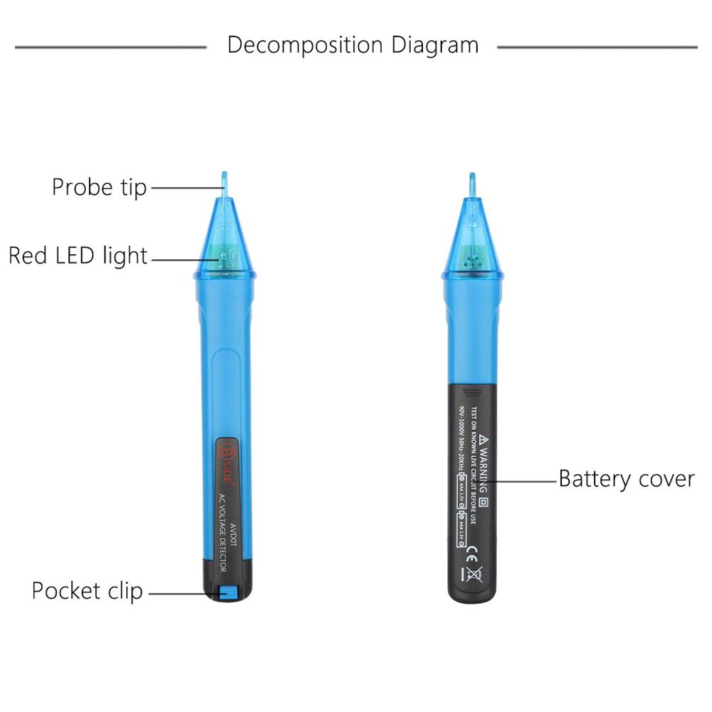Ac Voltage Detector Circuit Diagram Opamp Bridge Amplifier Tradeoficcom Non Contact Test Pencil Portable Voltmeter Electric Volt