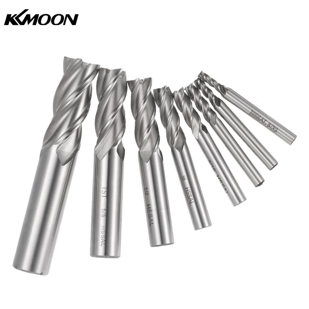 8pcs Drill Bit Milling Cutter End Mill Drill Bits Cutting Tool for Stainless Steel drill 1 4 3 16 5 32 5 16 3 8 1 2 5 8 3 4 inch