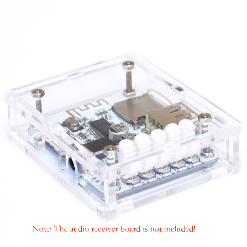 Wireless Acrylic DIY Case Cover Shell Stereo Music Module for USB DC 5V Bluetooth 2.1 Audio Receiver Board with TF Card Slot