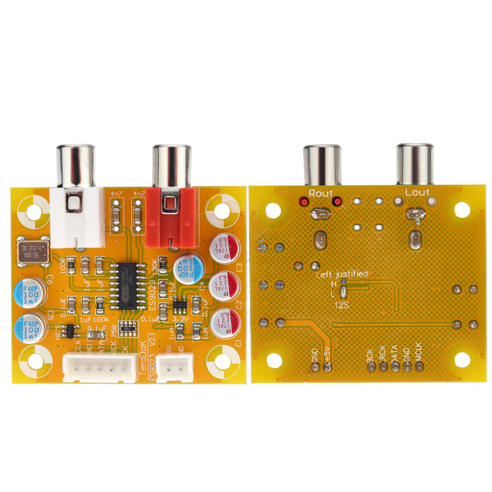 DAC Sabre ES9023 Analog I2S 24 Bit 192 KHz Decoder Board Mode Conversion stereo sound frequency mode conversion chip