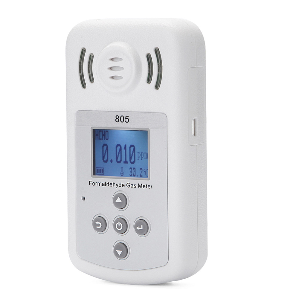 Portable Formaldehyde Tester Mini PPM HTV Meter Fine Methanal Concentration Detector with LCD Display and Sound light Alarm