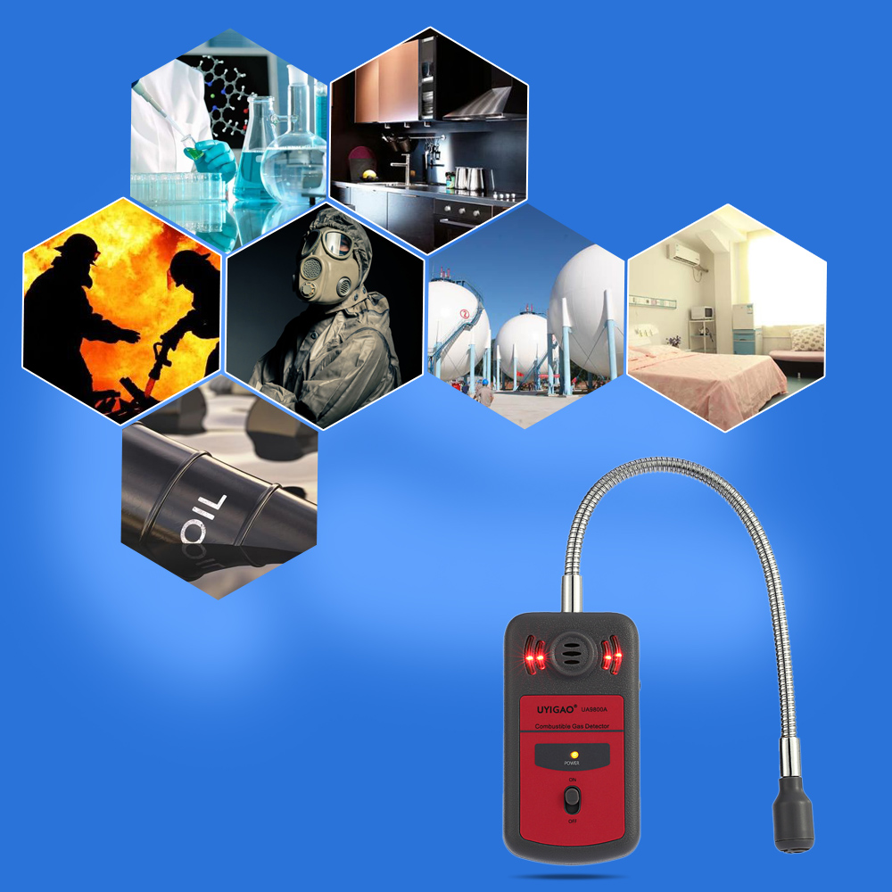 UYIGAO LCD Digital Combustible Gas Detector Automotive Gas Leak Location Determine Tester Gas Analyzer with Sound Light Alarm