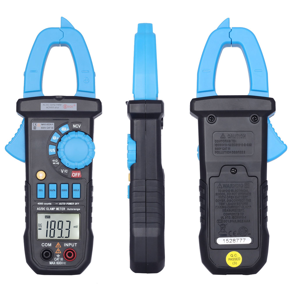 Digital Multimeter LCD Clamp Meter the Current Tongs DC AC Voltage Resistance Capacitance Diode Frequency Tester NCV Function