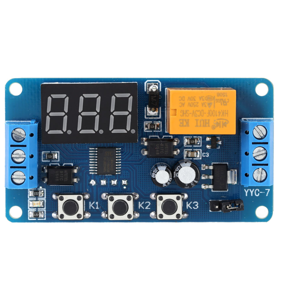 LED Display Timer Module Automation Digital Delay Timer Control Relay Switch Module rele 3V 3.7V 4.5V 5V 6V