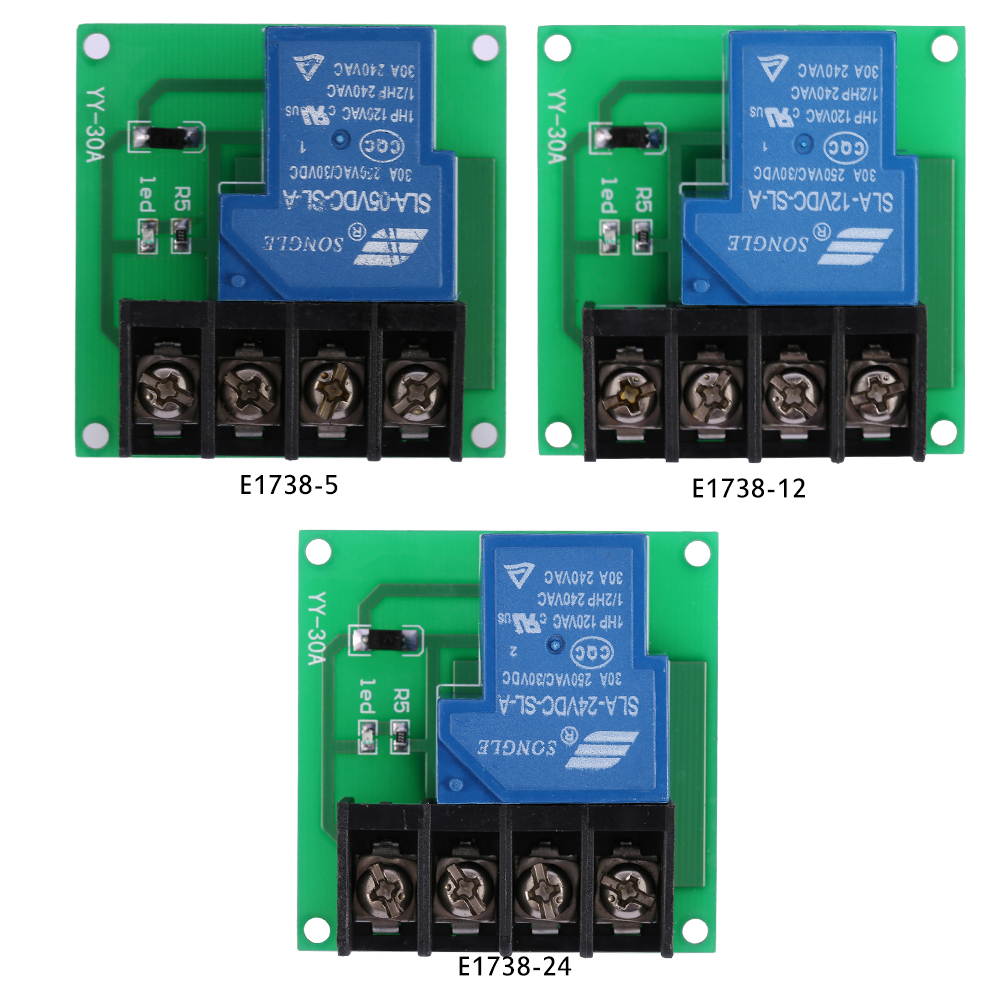 1 Channel 30a High Performance Relay Module Optocoupler Isolation Dc Switch Kit Control Board 24v 12v