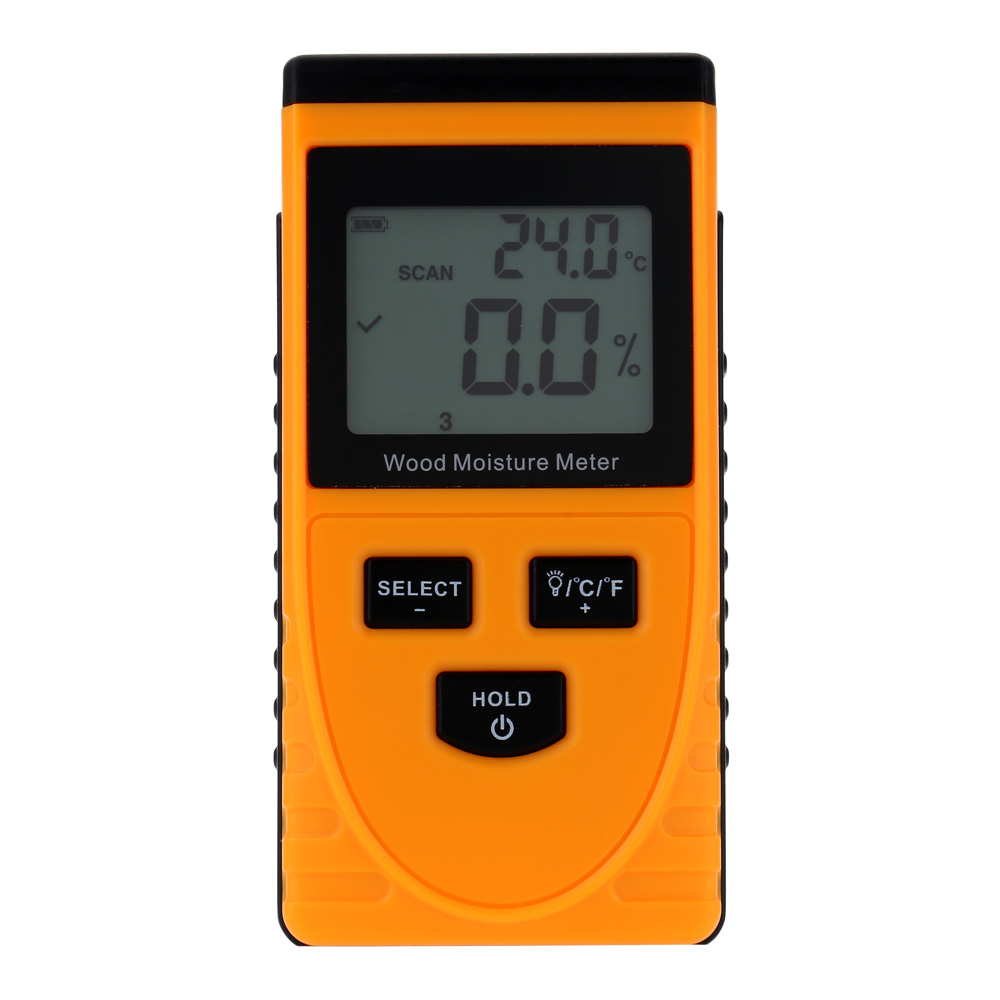 Precision Digital Wood Moisture Meter LCD Display Hygrometer Temperature Humidity Tester Meter weather station diagnostic tool