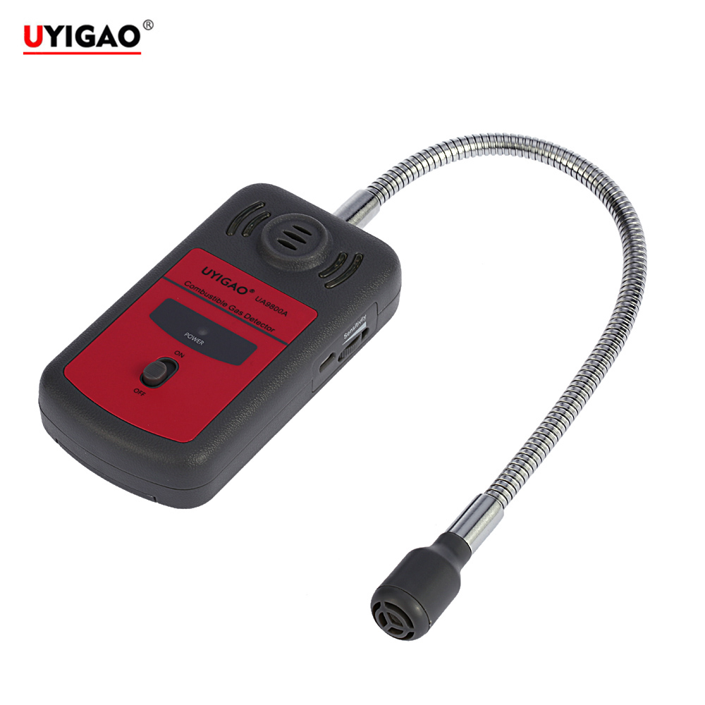 UYIGAO Combustible Gas monitor Automotive gas leak detector Gas Location Determine Tester Gas Analyzer with Sound Light Alarm