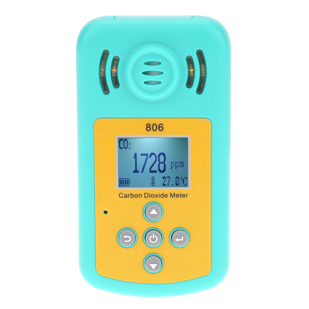 Handheld Professional Carbon Dioxide Gas Detector CO2 Meter analyzer Temperature Measurement LCD Display Alarm Value Settable