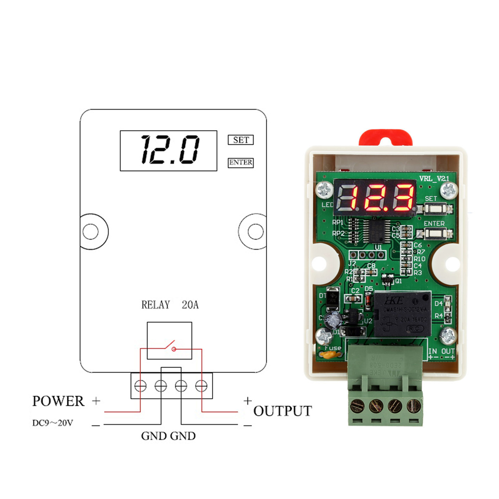 12v Voltage Controller Quality Meter Module Relay Timer Time Circuit Test Control Delay Switch