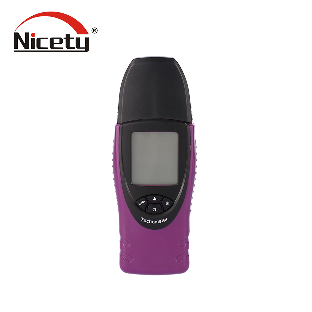 Nicety Digital Laser tachometer High Precision velocity Tester Portable Non Contact Tach Gauge Tester LCD Display with Backlight