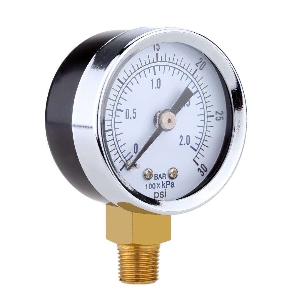 0~30psi 0~2bar Mini Pressure Gauge Dial Air Compressor Meter