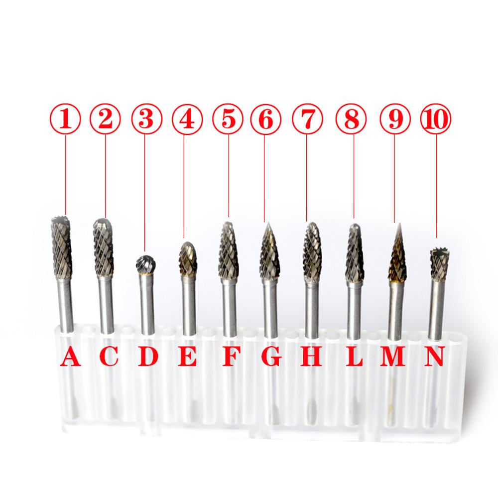 Electric Grinding Dremel Accessories 10pcs Tungsten Steel