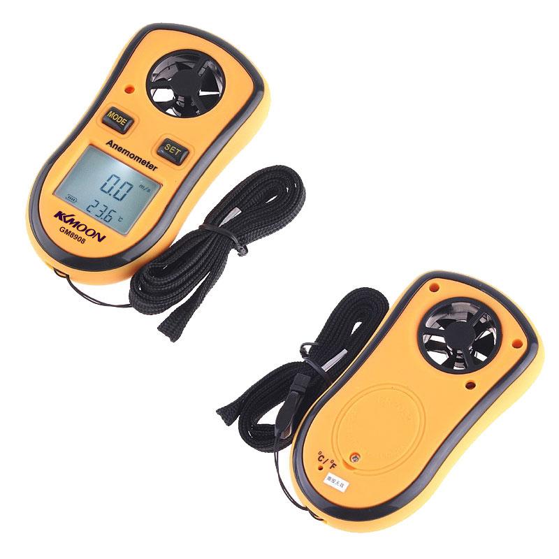 Wind Speed Meter : Minj digital anemometer pocket thermometer wind speed