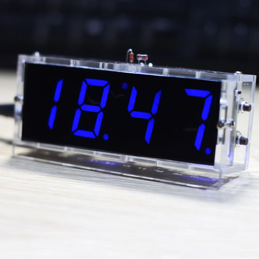 Compact 4 Digit Diy Digital Led Clock Kit Diy Clock