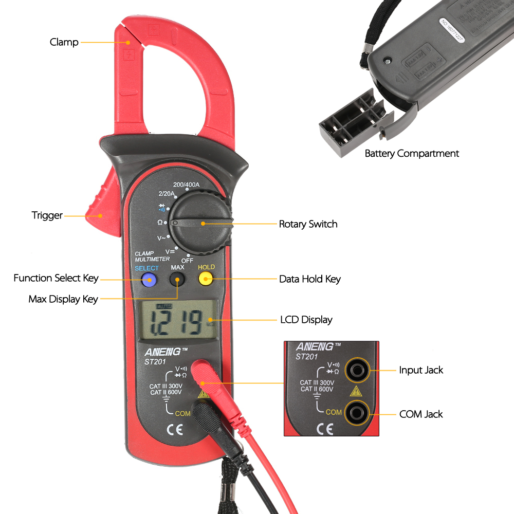 how to use clamp meter to measure dc current