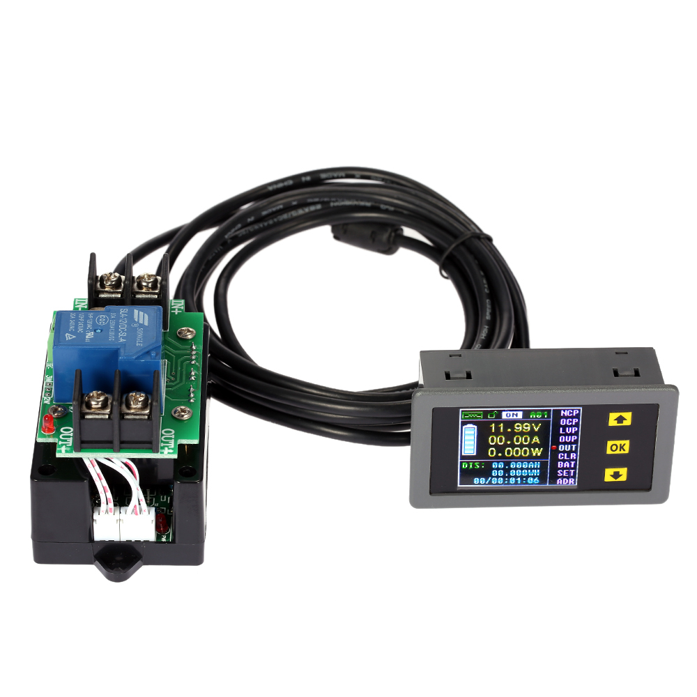 Digital Current Meter : Digital ammeter voltmeter coulomb counter wireless voltage
