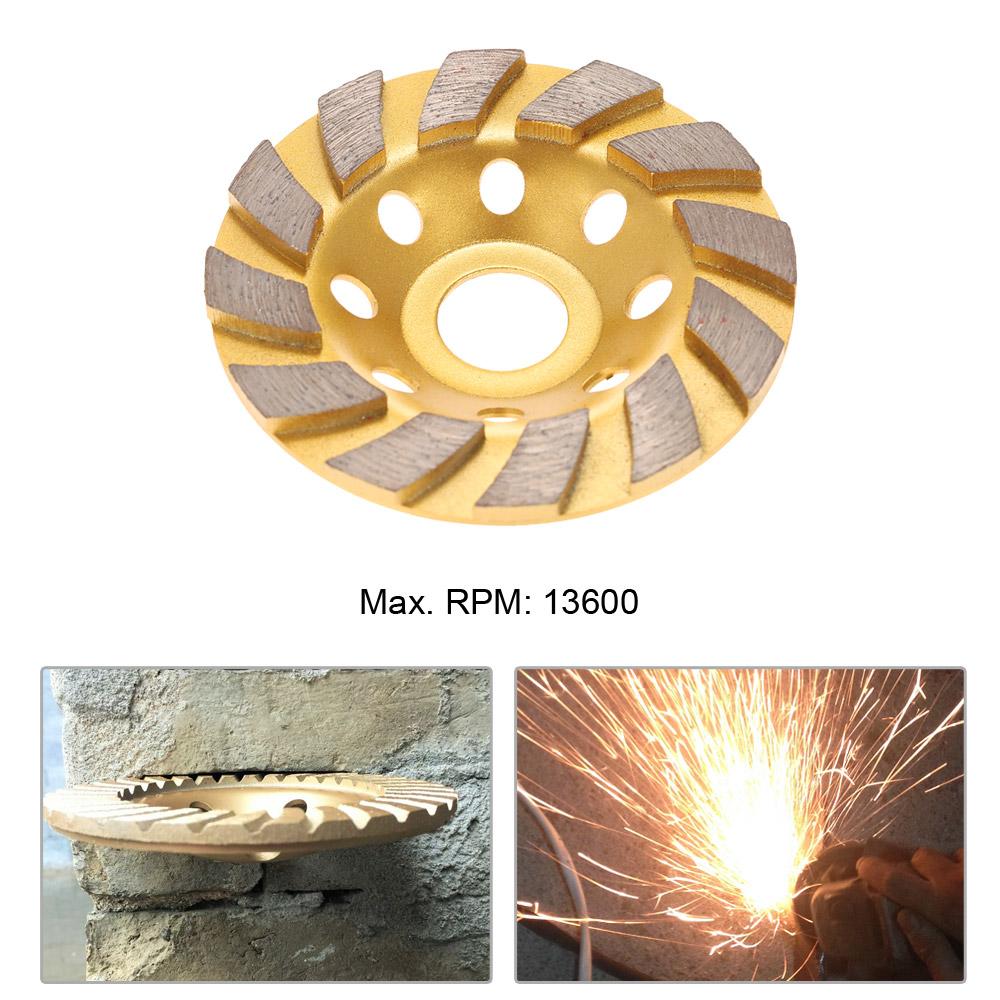 "100mm 4/"" Diamond Segment Grinding Wheel Disc Grinder Cup Concrete Stone Cut"