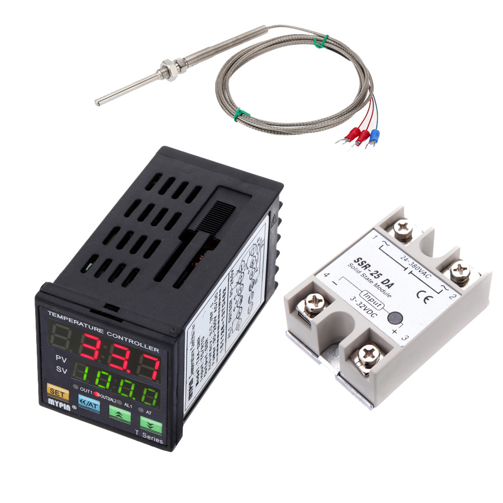 Mini Digital Pid Temperature Controller Led Thermometer Snr Tc Rtd Solid State Relay Canada Module Pt100