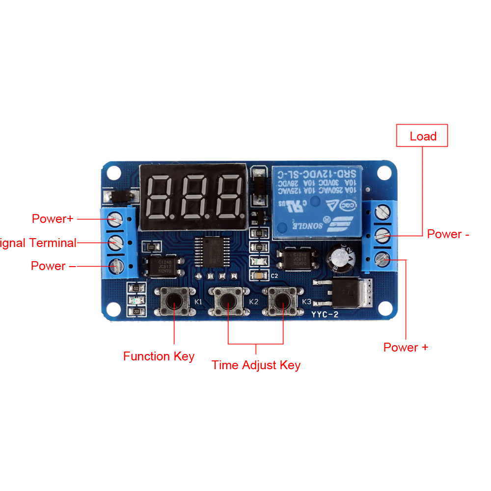 12v Led Display Timer Module Automation Digital Delay