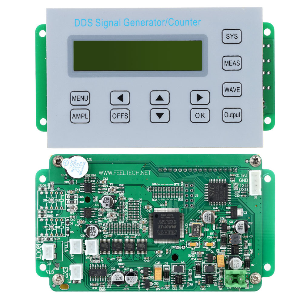 5MHZ DDS Function Signal Generator Frequency Counter Synchronized