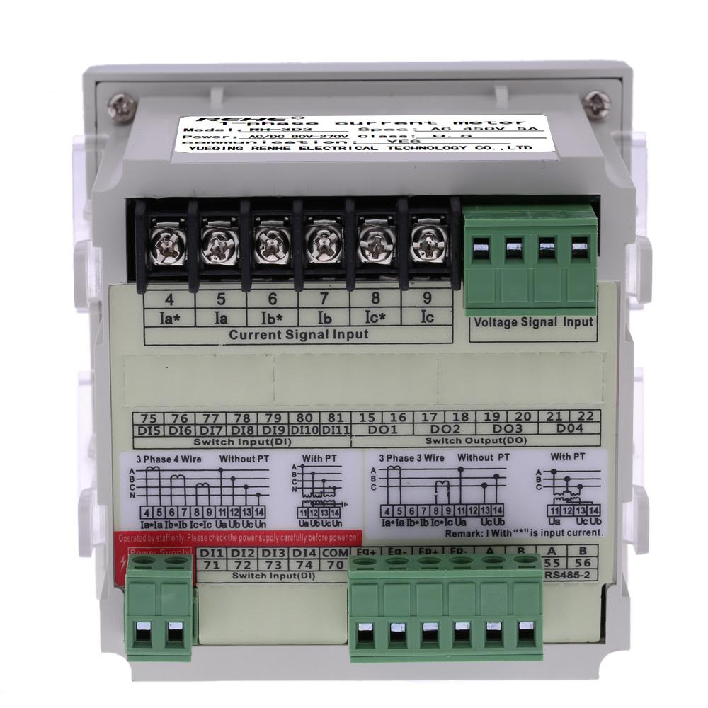 Three Phase Voltmeter : Embedded multi purpose power meter led digital phase