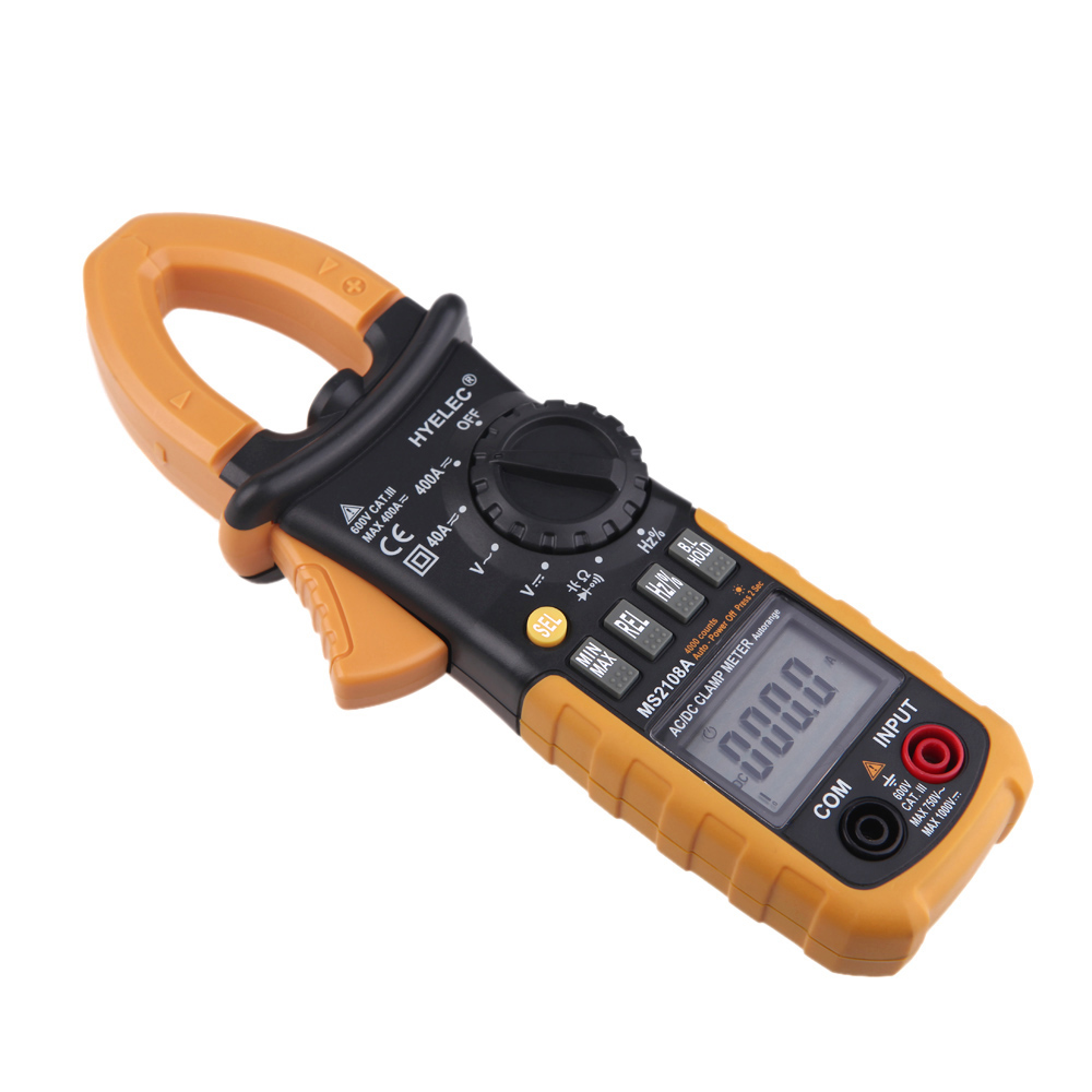 Ac Dc Clamp Meter : Hyelec ms a digital ac dc clamp meter auto and manual