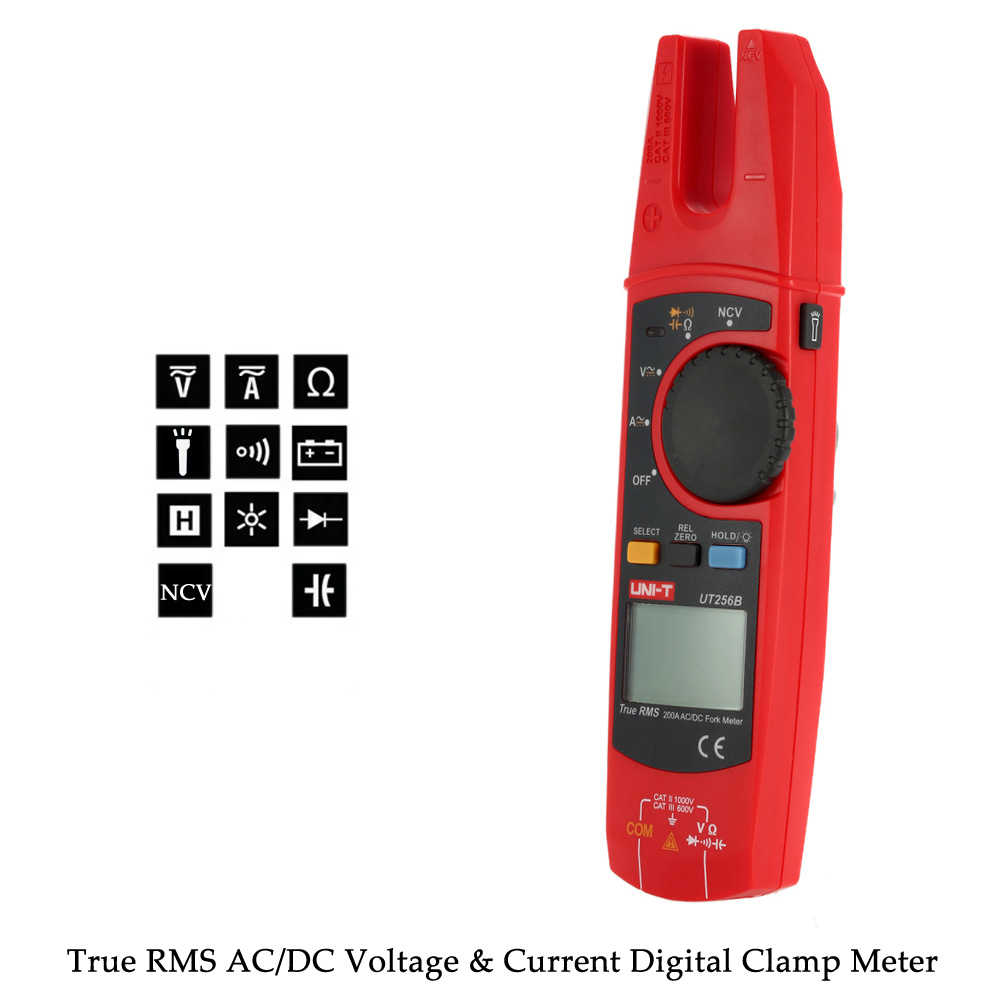 True Rms Meter : Uni t ut b true rms clamp meter digital fork