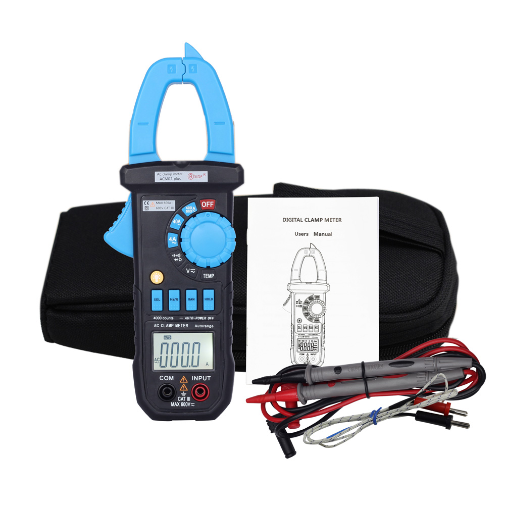 Digital Lcd Clamp Meter Multimeter Dc Ac Voltage Current How To Build Pic Diode Tester Resistance Capacitance Continuity Auto
