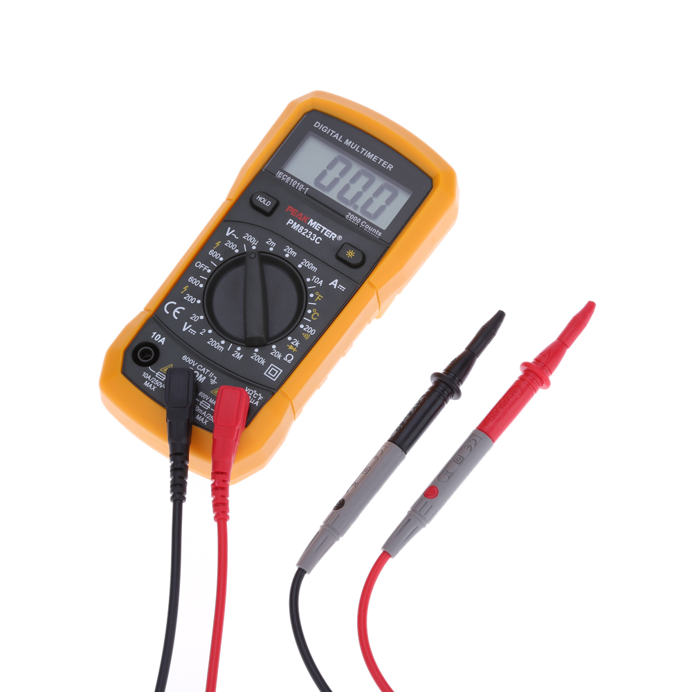 Hyelec Multifunction Mini Multimeter Digital Diagnostic Tool For Pic Diode Tester Temperature Resistance Current Test With Back Light