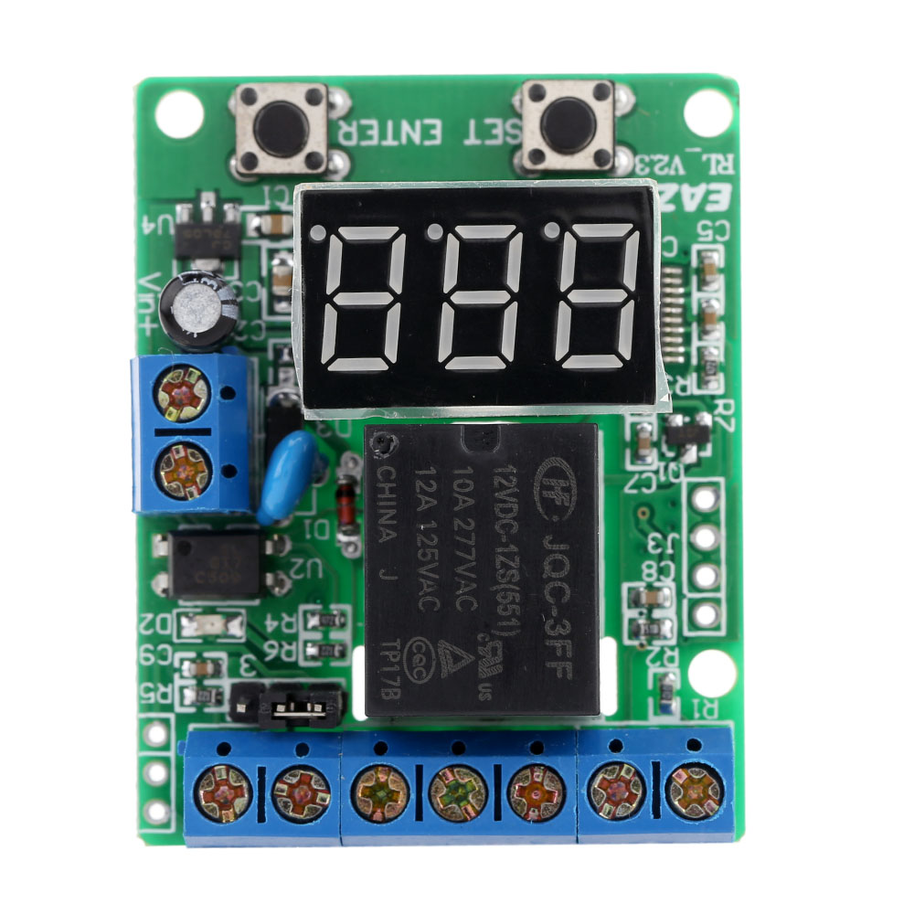 dc 12v relay module voltage detection charging discharge monitor test relay switch control board module