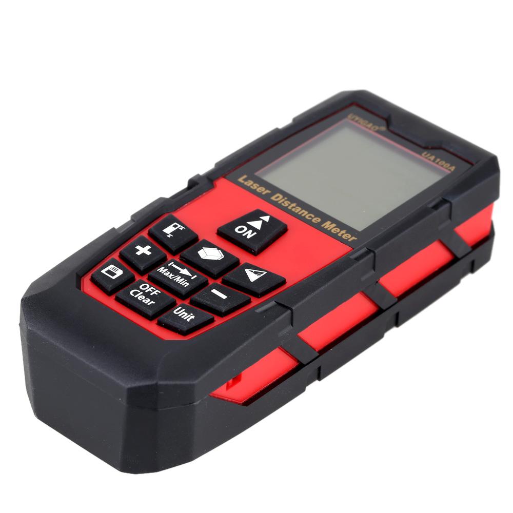 100mDigital Laser Distance Meter Portable Range Finder Electronic Ruler Handheld Laser Rangefinder Self calibration Level Bubble