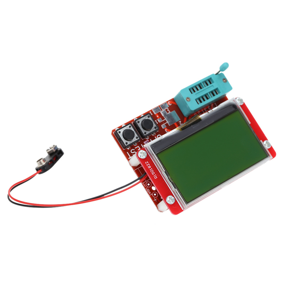 Multi Functional Lcd Transistor Tester Diode Thyristor Resistors In Circuit For Scr Diodes And Transistors Capacitance Esr Lcr Meter Diagnostic Tool With Big
