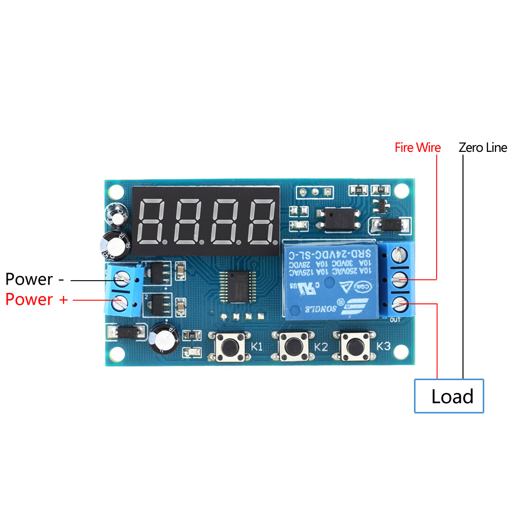 Multifunction Delay Time Module Switch Control Relay Cycle Timer Off Relais 12v