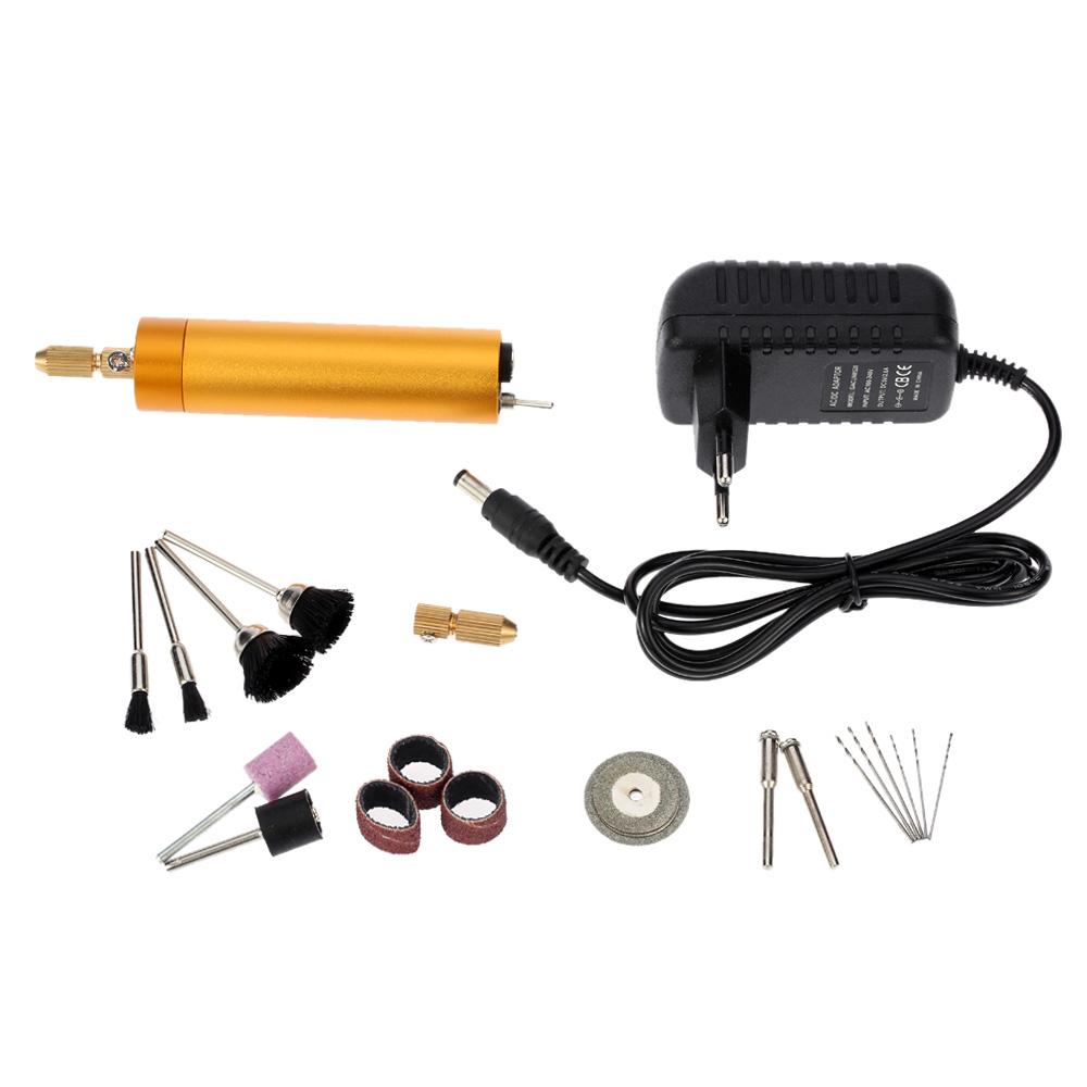 Mini Electric Drill Practical Dremel Diy Polishing Drilling Grinder Wiring Diagram Grinding Cutting Tools Set Ac100 240vtaladro Inalambrico