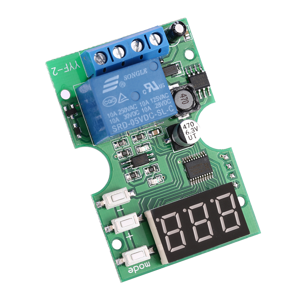 DCV Voltage Test Module Voltage Meter Relay Output Control - Switching voltage in relay