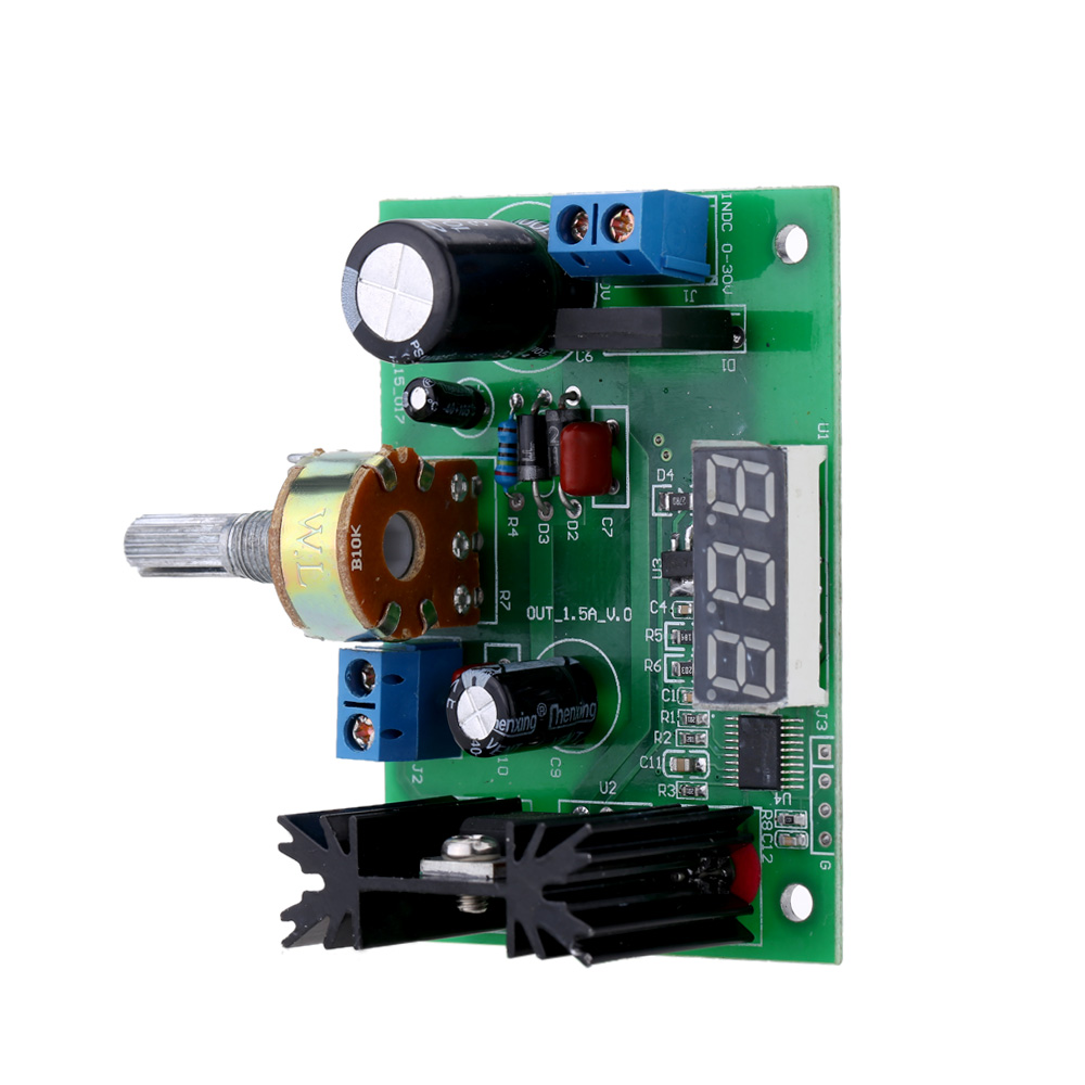 Lm317 Ac Dc Adjustable Voltage Regulator Step Down Power Supply Led Driver Circuit Module With Display