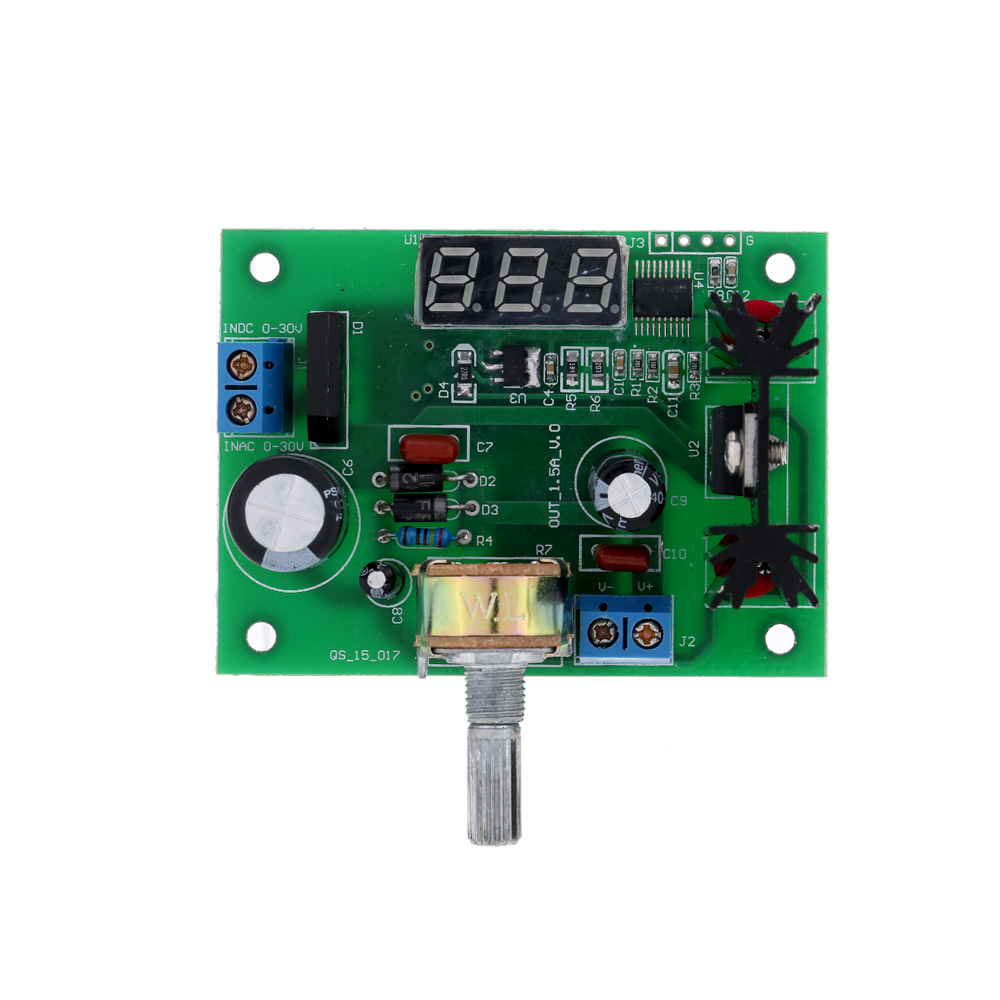 Lm317 Ac Dc Adjustable Voltage Regulator Step Down Power Supply Circuit Module With Led Display